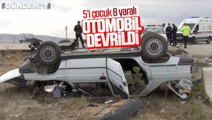 Kırıkkale'de Trafik Kazası: 5'i Çocuk 8 Kişi Yaralandı