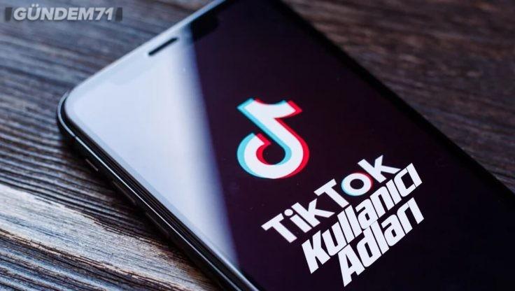 TikTok Kullanıcı Adları (TikTok Nickleri)