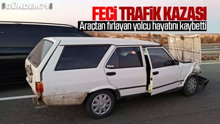 Kırıkkale'de Feci Trafik Kazası: 1 Kişi Hayatını Kaybetti