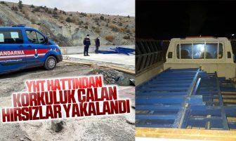 Ankara-Sivas Yüksek Hızlı Tren Hattından Korkuluk Çalarken Yakalandılar