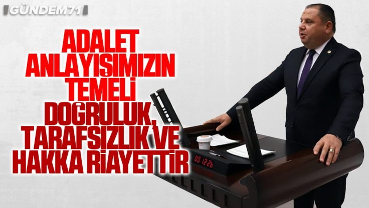 Halil Öztürk, Adalet Bakanlığı 2021 Bütçesi Hakkında TBMM'de Konuştu