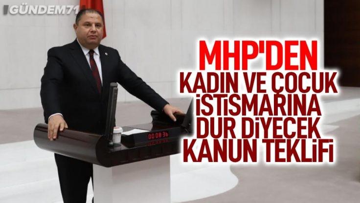 MHP'li Öztürk'ten Kadın, Çocuk İstismarına Karşı TCK'da Düzenleme Teklifi