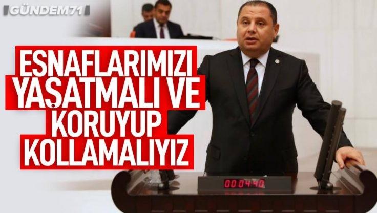 MHP'li Öztürk TBMM'de Küçük Esnafın Sorunlarını Dile Getirdi