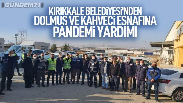 Kırıkkale Belediyesinden Dolmuş ve Kahveci Esnafına Gıda Yardımı