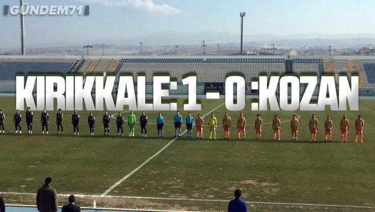 Kırıkkale Büyük Anadoluspor, Kozanspor'u 1-0 Yendi