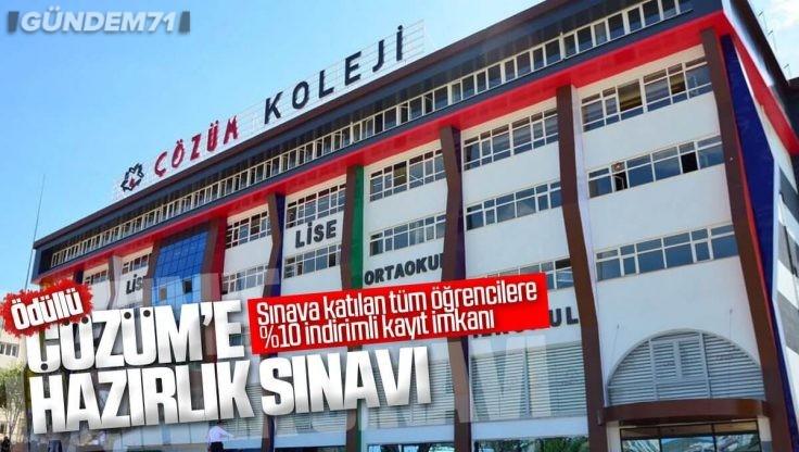 Kırıkkale Çözüm Koleji'nden Ödüllü Çözüm'e Hazırlık Sınavı