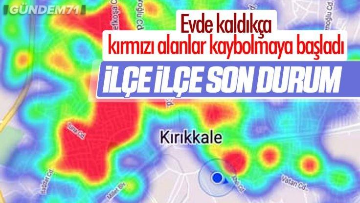 Kırıkkale Koronavirüs Risk Haritasında İlçelere Göre Son Durum