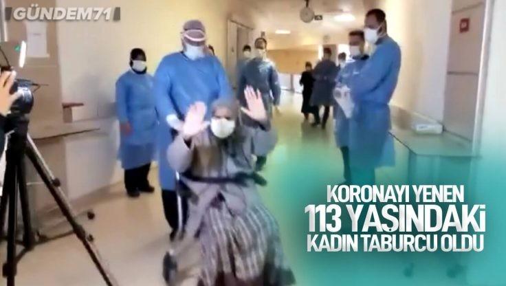 Kırıkkale'de Koronavirüsü Yenen 113 Yaşındaki Yaşlı Kadın Taburcu Edildi
