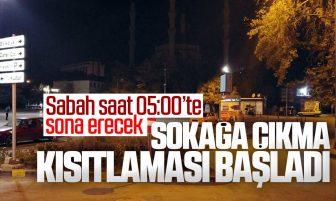 Kırıkkale'de Sokağa Çıkma Kısıtlaması Başladı