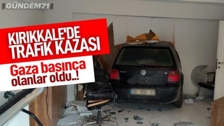 Kırıkkale'de Trafik Kazası; 1 Yaralı