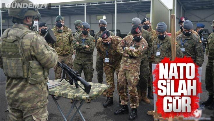 NATO Tatbikatında Yabancı Askerler MKE Tarafından Üretilen Milli Piyade Tüfeğini İnceledi