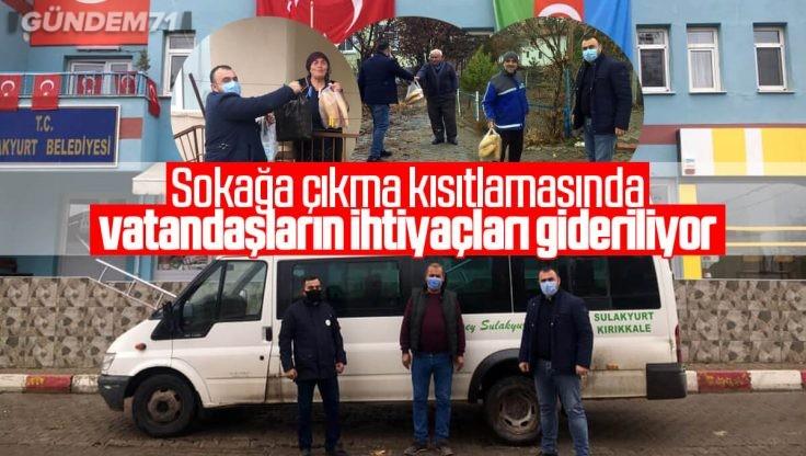 Sulakyurt Belediyesi Sokağa Çıkma Yasağında Vatandaşların Yanında