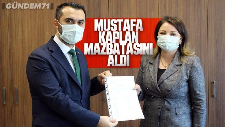 Ak Parti Kırıkkale İl Başkanı Mustafa Kaplan Mazbatasını Aldı