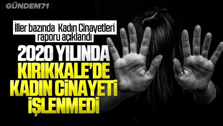 Kırıkkale'de 2020 Yılında Kadın Cinayeti İşlenmedi