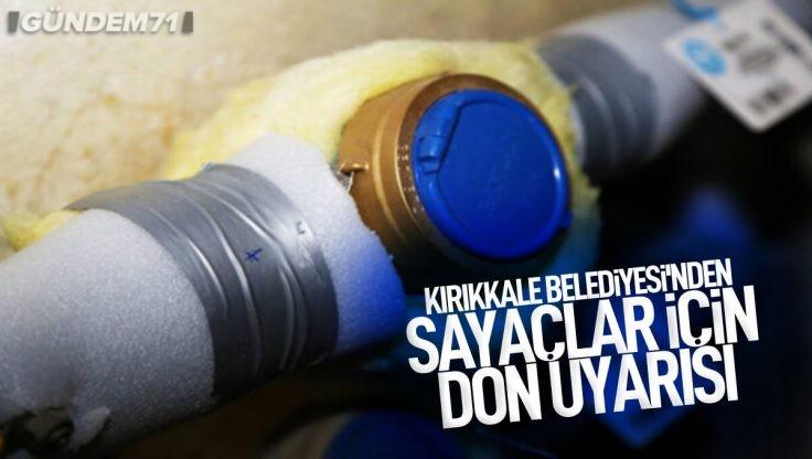Kırıkkale Belediyesinden Don Uyarısı