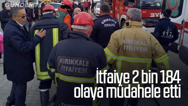 Kırıkkale İtfaiyesi 2 Bin 184 Olaya Müdahale Etti