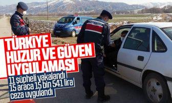 """Kırıkkale'de """"Türkiye Huzur ve Güven Uygulaması"""" Yapıldı"""