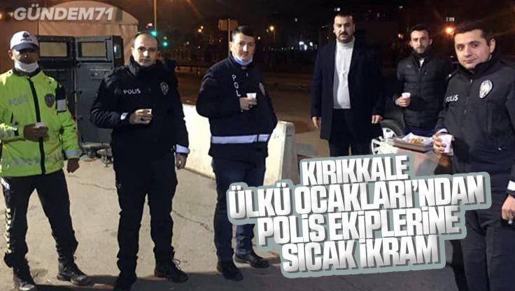 Kırıkkale Ülkü Ocakları Polis Ekiplerine Salep ve Helva İkramında Bulundu
