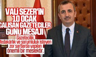 Kırıkkale Valisi Yunus Sezer'den 10 Ocak Çalışan Gazeteciler Günü Mesajı