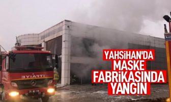 Yahşihan'da Maske Fabrikasında Yangın