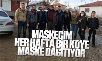 Maskecim Kırıkkale'de Her Bir Köye Ücretsiz Maske Ulaştırıyor