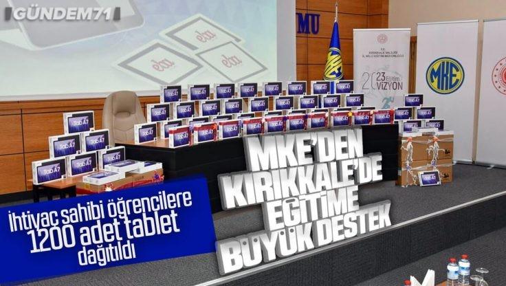 MKEK'den Kırıkkale'de İhtiyaç Sahibi Öğrencilere 1200 Adet Tablet