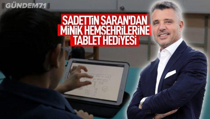 Sadettin Saran'dan Kırıkkaleli Öğrencilere Tablet Hediyesi
