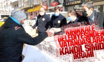 Kırıkkale Belediyesinden Kandil Simidi İkramı