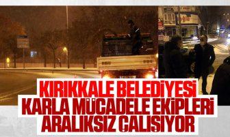 Kırıkkale Belediyesi Karla Mücadele Çalışmalarını Aralıksız Sürdürüyor