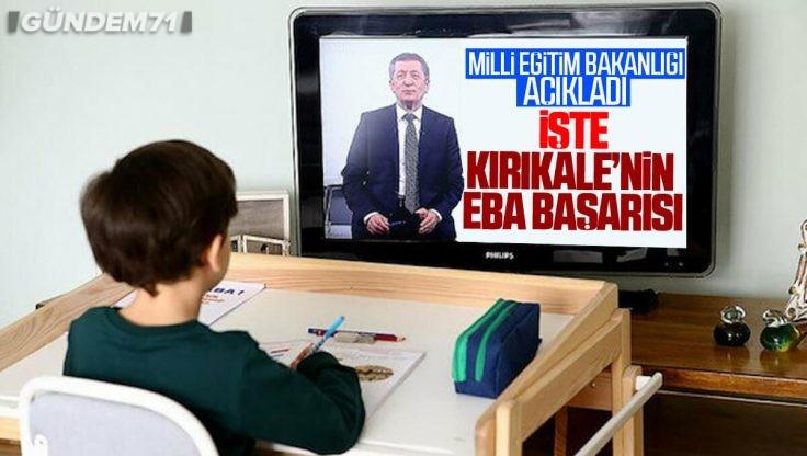 Kırıkkale'nin EBA Başarısı Açıklandı