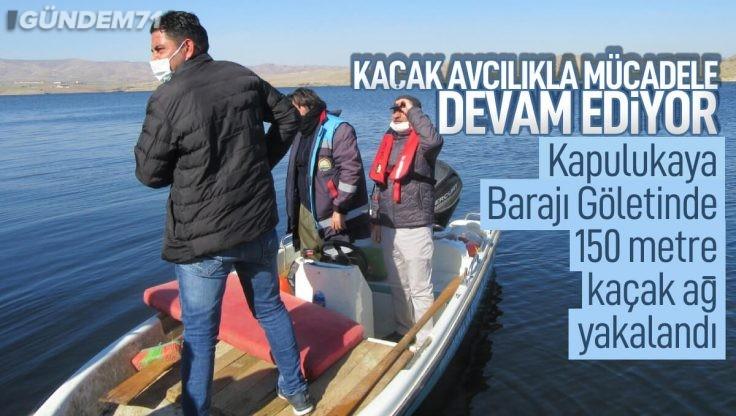 Kırıkkale Kapulukaya Barajı Göletinde Kaçak Ağ Yakalandı