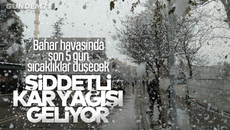 Kırıkkale'ye Kar Yağışı ve Soğuk Hava Geri Geliyor