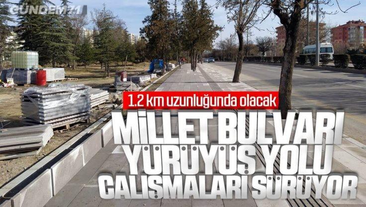 Kırıkkale Millet Bulvarı Yürüyüş Yolu Çalışması Sürüyor