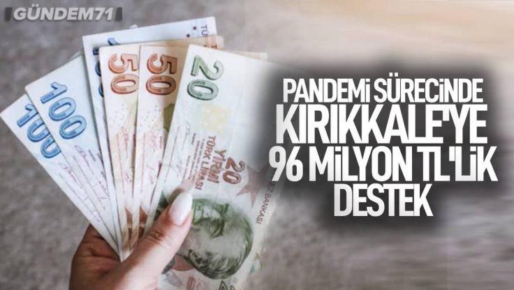 Pandemi Sürecinde Kırıkkale'ye Yapılan Sosyal Destek 96 Milyon TL'ye Yaklaştı