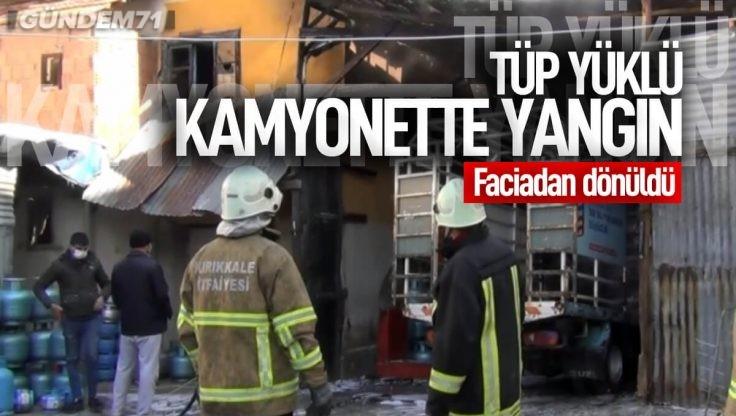 Kırıkkale Tüp Yüklü Kamyonette Yangın