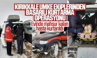 Evinde Mahsur Kalan Hasta Kırıkkale UMKE Ekipleri Tarafından Hastaneye Ulaştırıldı