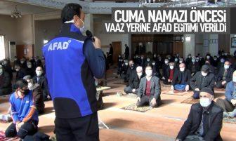 Kırıkkale'de Cuma Namazı Öncesi Vaaz Yerine AFAD Eğitimi Verildi
