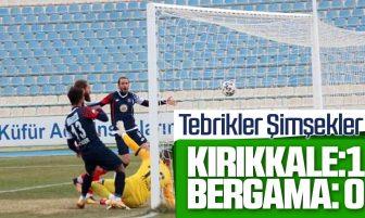 Kırıkkale Büyük Anadoluspor, Bergama Belediyespor'u 1 – 0 Yendi