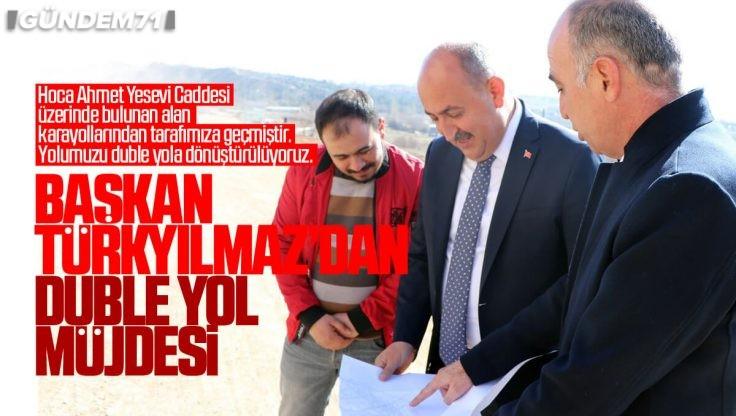 Başkan Türkyılmaz'dan Yahşihan'a Duble Yol Müjdesi