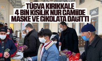 TÜGVA Kırıkkale'den 4000  Kişilik Nur Camiide Maske Ve Çikolata Dağıtımı
