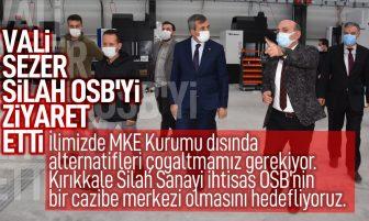 Vali Sezer Kırıkkale Silah İhtisas OSB'yi Ziyaret Etti