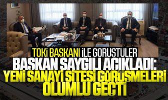 Başkan Saygılı Açıkladı; Kırıkkale Yeni Sanayi Sitesi Görüşmeleri Olumlu Geçti