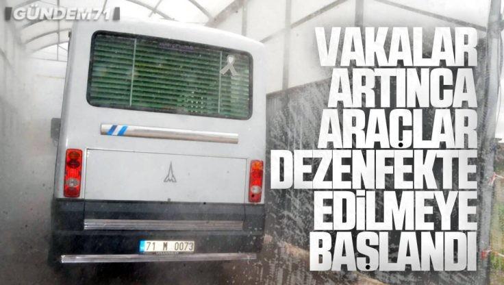Kırıkkale'de Araç Dezenfekte Tüneli Yeniden Açıldı