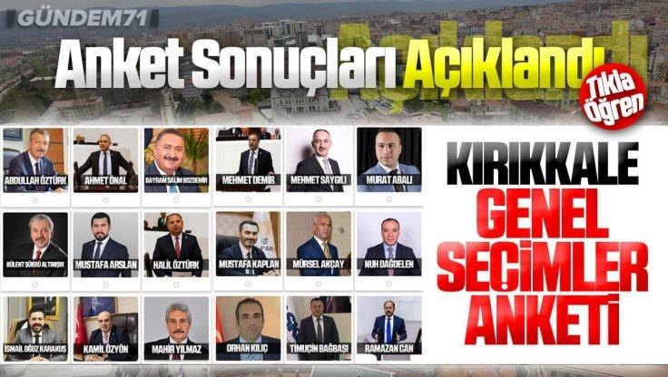 Kırıkkale Genel Seçimler Anketi Sonuçları Açıklandı