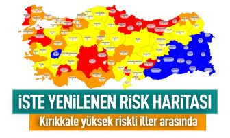 Koronavirüs Risk Haritası; Kırıkkale Yüksek Riskli İller Arasında