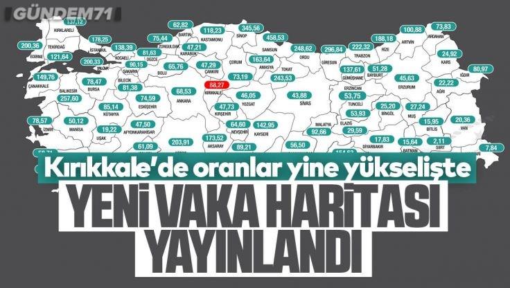 Türkiye'nin Güncel Haftalık Vaka Haritası Yayınlandı; Kırıkkale Yine Yükselişte
