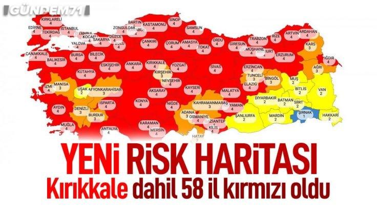 Yeni Koronavirüs Risk Haritası Yayınlandı; Kırıkkale Çok Yüksek Riskli İller Arasında Yer Aldı