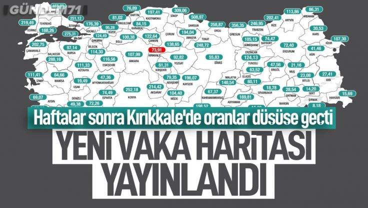 Türkiye'nin Güncel Haftalık Vaka Haritası Yayınlandı; Kırıkkale'de Vakalar Düşüşe Geçti