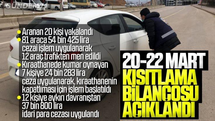Kırıkkale Valiliği Sokağa Çıkma Kısıtlaması Bilançosunu Açıkladı