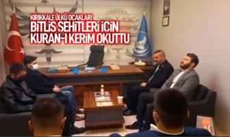 Kırıkkale Ülkü Ocakları Bitlis Şehitleri İçin Kur'an-ı Kerim Okuttu